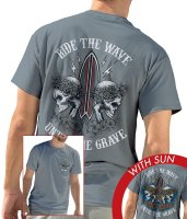 UNIVERSAL SUN-WASHED TEE - RIDE THE WAVE