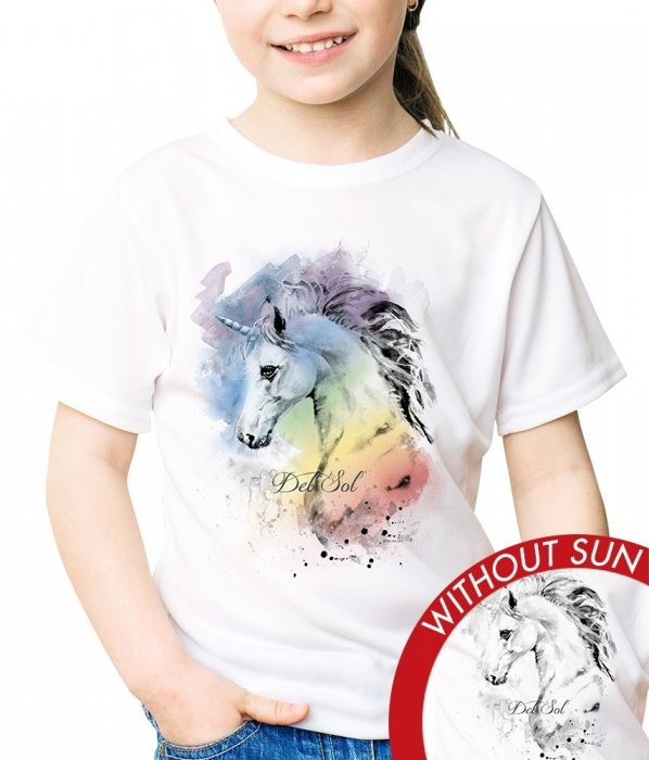 GIRL'S CREW TEE - WATERCOLOR UNICORN